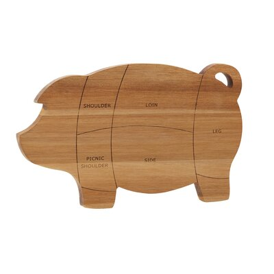 Wood Pantryware Pig Cutting Board