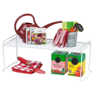 Stacking Helper Shelf Size: Small, Color: White