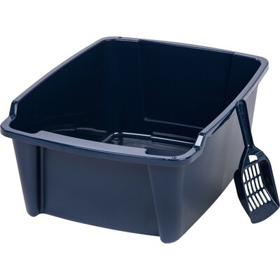 Randolph High Sided with Scoop Litter Pan Color: Navy