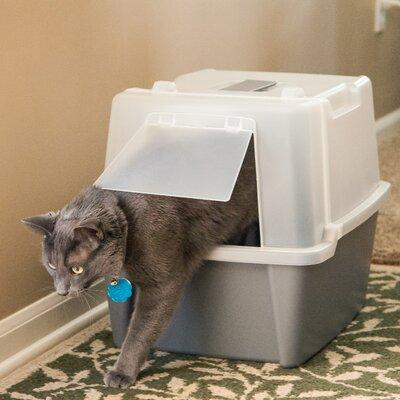 Raphael Split-Hood Litter Box Color: Gray
