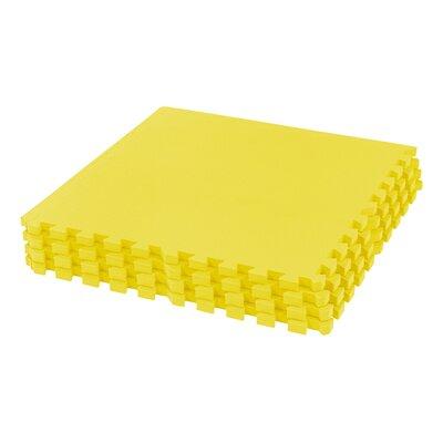 "Interlocking Foam Floor Mat Color: Yellow, Size: 24.5"" L x 24.5"" W, Thickness: .75"""