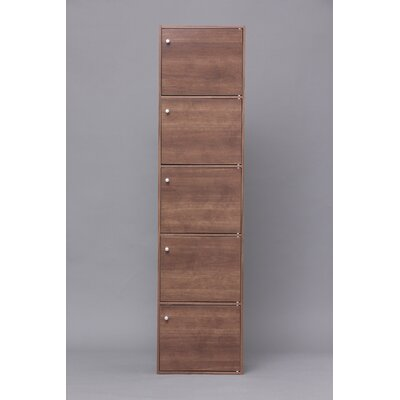Yama Series 5 Door Accent Cabinet Color: Brown