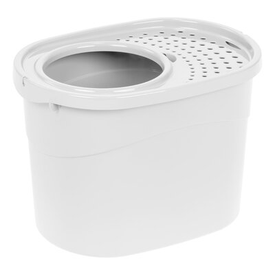 Roo Top Entry Litter Box Color: White