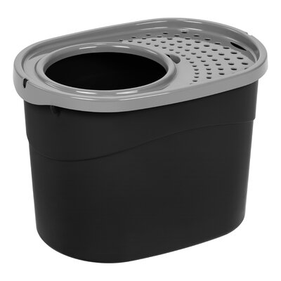 Roo Top Entry Litter Box Color: Black