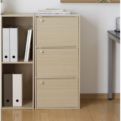 3 Door Accent Cabinet Color: Natural