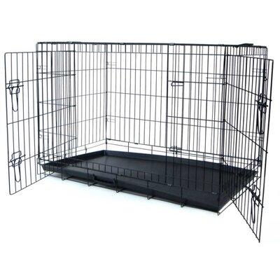 "Double Door Heavy Duty Pet Crate Size: 26"" H x 36"" W x 23"" L"