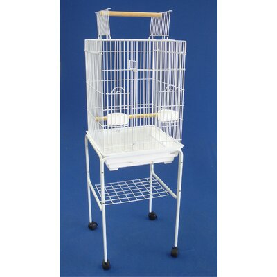 YML Open Top Small Parrot Bird Cage with Stand