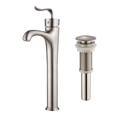 Coda? Single Hole Bathroom Faucet with Pop-Up Drain Finish: Brushed Nickel