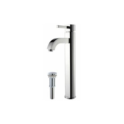 Vessel Mixer Single Hole Bathroom Faucet with Drain Assembly Finish: Chrome