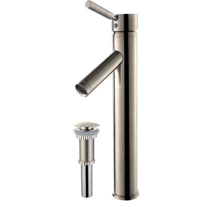 Sheven Single Hole Bathroom Faucet with Drain Assembly Finish: Satin Nickel