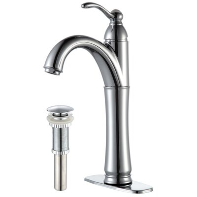Vessel Mixer Single Hole Bathroom Faucet with Optional Pop Up Drain Finish: Chrome, Optional Accessories: With Pop Up Drain