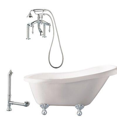 Hawthorne Soaking Bathtub Finish: Polished Chrome, Finish: White