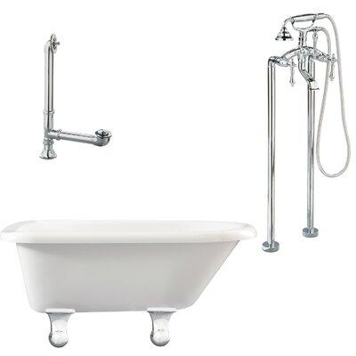 Brighton Top Soaking Bathtub Metal Finish: Polished Chrome, Finish: White