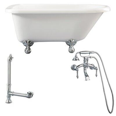 Augusta Roll Top Soaking Bathtub Metal Finish: Polished Chrome, Finish: White