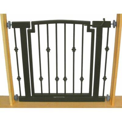 "Hansel Emperor Rings Pet Gate Finish: Black, Size: Large (32"" H x 40"" W x 1"" D)"