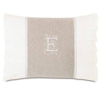 Eastern Accents Edith Greer Insert Monogram Throw Pillow
