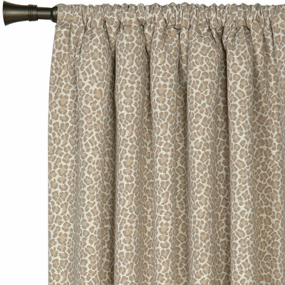 Eastern Accents Rayland Parrish Fawn Cotton Rod Pocket Single Curtain Panel