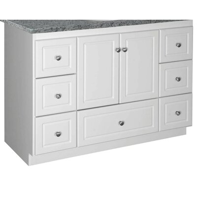 "Simplicity 48"" Bathroom Vanity Base Base Finish: Satin White, Depth: 18"