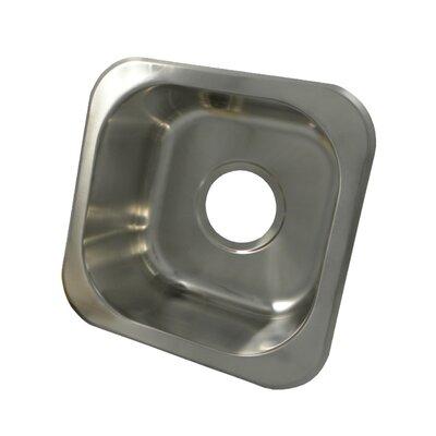 "Square 12"" L x 12"" W Undermount Bar Sink"