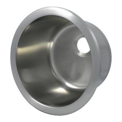 """12.1"""" L x 12.1"""" W Round Bar Sink Finish: Brushed Stainless Steel"""