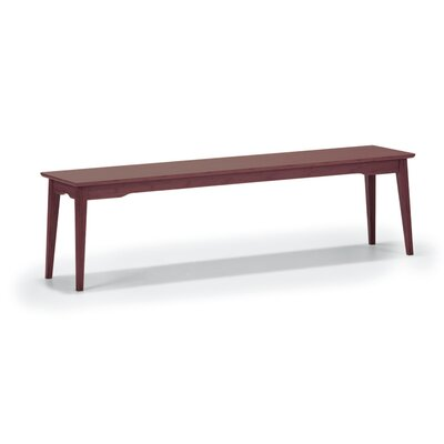 "Currant Bamboo Bench Finish: Black Walnut, Bench Size: 17.5"" H x 48"" W x 13"" D"