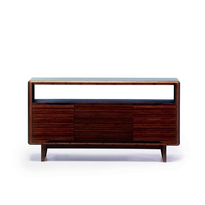 """Currant 54"""" TV Stand Color: Black Walnut"""