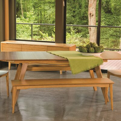 "Currant Bamboo Bench Finish: Caramelized, Bench Size: 17.5"" H x 48"" W x 13"" D"