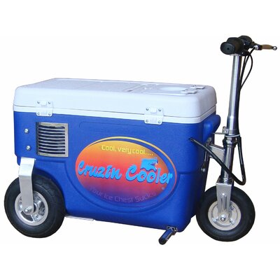 30 Qt. 500W Scooter Electric Cooler Color: Blue