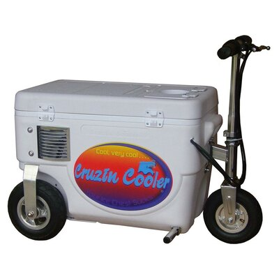 30 Qt. 1000W Scooter Electric Cooler Color: White