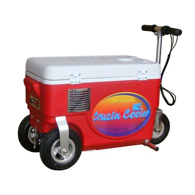 30 Qt. 1000W Scooter Electric Cooler Color: Red