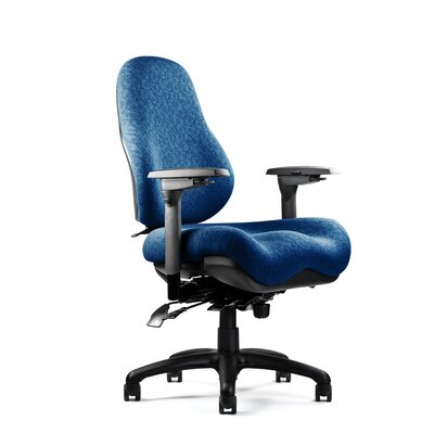 8000 Series High-Back Desk Chair Upholstery: Revive -Metal, Seat: Large Seat, Minimal Contour