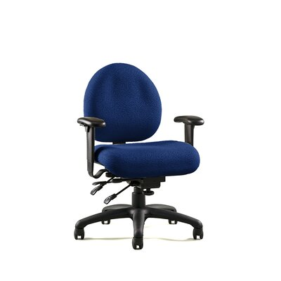 E Series Mid-Back Desk Chair Upholstery: Revive -Ink, Arms: Lateral Sliding