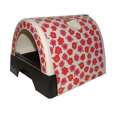 Designer Cat Litter Box with Flower Cover