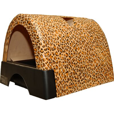 Designer Cat Litter Box with New Leopard Print Cover