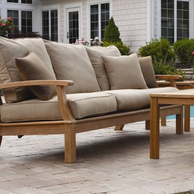 Monterey Deep Seating Sofa with Cushions Fabric: Pine
