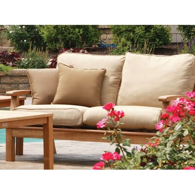 Monterey Deep Seating Loveseat with Cushions Fabric: Brass