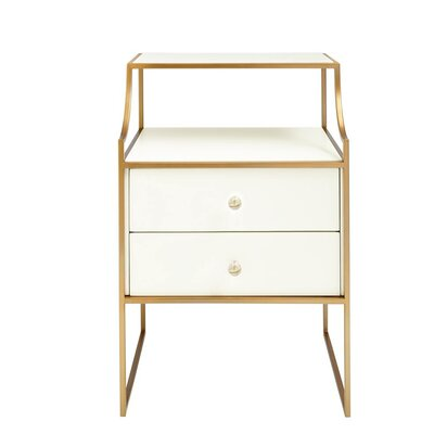 Oasis Ocean Park Telephone Table Color: Saltbox White