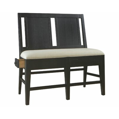 Attic Heirlooms Upholstered Storage Bench Color: Black