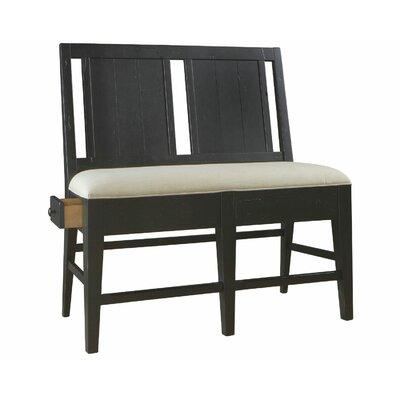 Attic Heirlooms Upholstered Storage Bench Color: Black