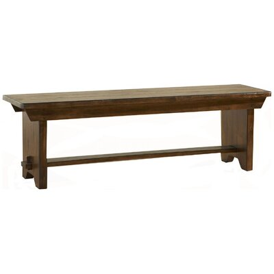 Attic Heirlooms Wood Bench Color: Rustic Oak
