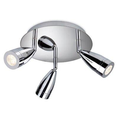 Firstlight STORM 3 Light Semi-Flush Ceiling