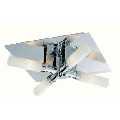 Firstlight Spa 4 Light Semi-Flush Ceiling Light