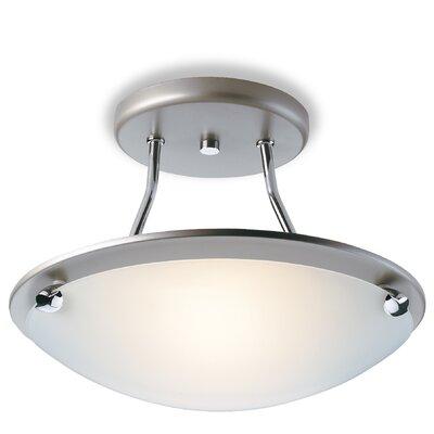 Firstlight CHAMPAGNE 1 Light Semi-Flush Ceiling