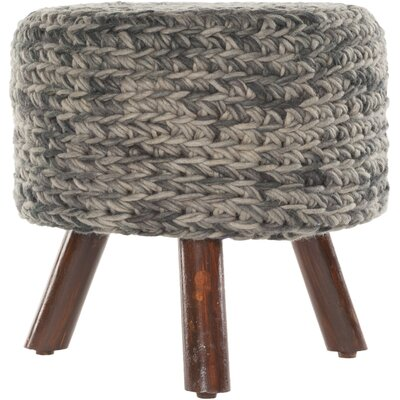 Alverez Handmade Accent stool Color: Gray