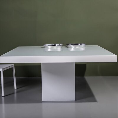 Beech Dining Table Color: White/Glossy White