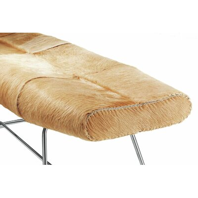 Carey Leather Bench Color: Beige