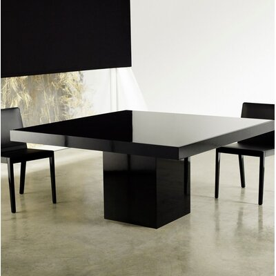 Beech Dining Table Color: Black/Glossy Black