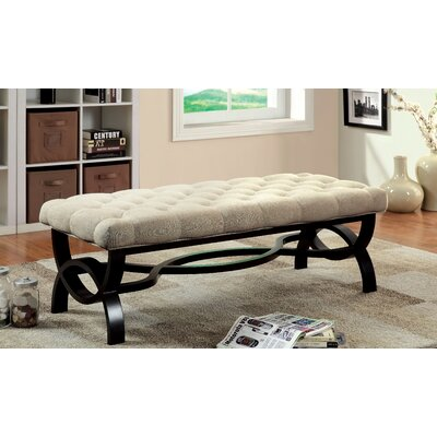 "Emellie Wood Bench Size: 19.5"" H x 25"" W x 56.5"" L"