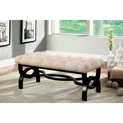 "Emellie Wood Bench Size: 18.75"" H x 19"" W x 48.5"" L"