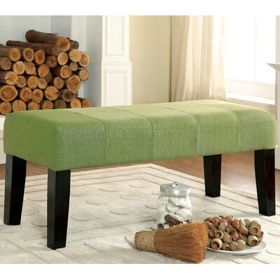 Bury Wood Bench Color: Green